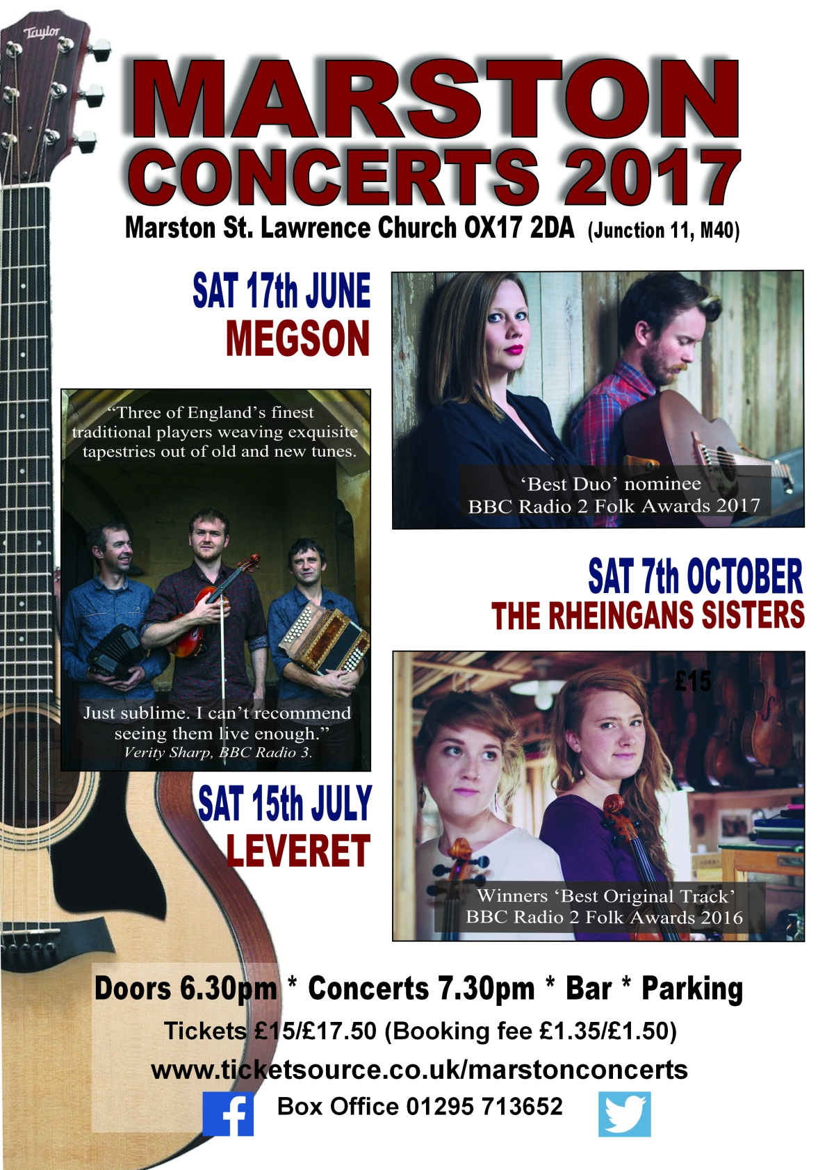 A4 Marston Concerts 17 flyer